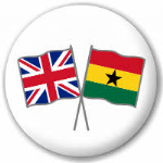 Great Britain and Ghana Friendship Flag 25mm Pin Button Badge